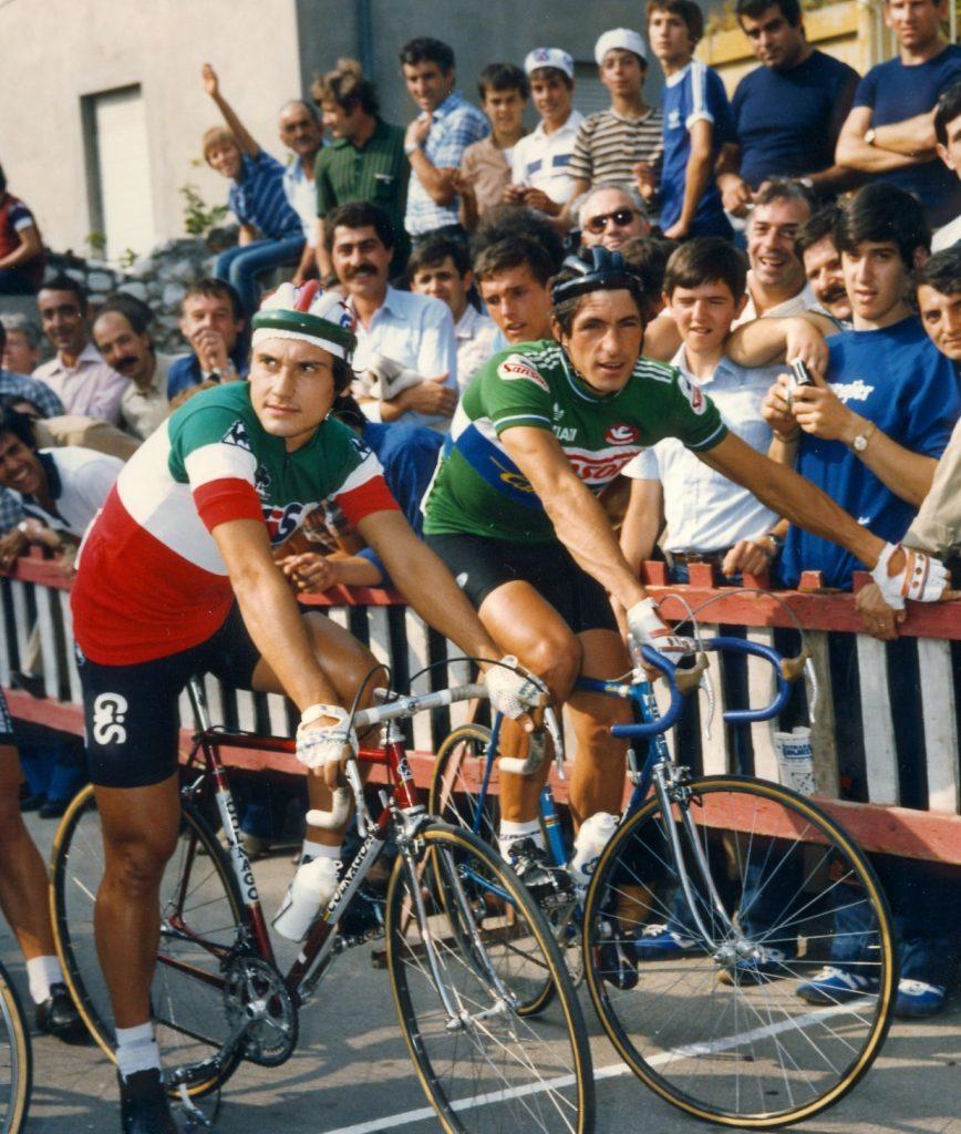 Saronni e Moser, nel 1980 a un circuito, è stato anche un derby tra gelati..